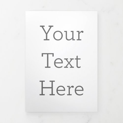 Create Your Own Vertical Trifold Letter Card