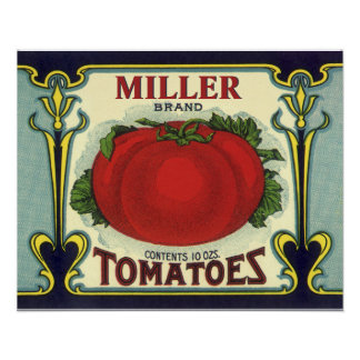 Create Your Own Vintage Fruit Crate Label Art Poster