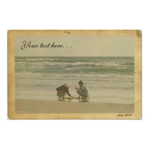 Create Your Own Vintage Style Postcard Poster