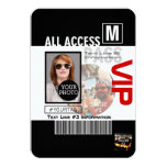 Create Your Own VIP Pass 8 ways to Personalize! 3.5x5 Paper Invitation Card