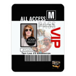Create Your Own VIP Pass 8 ways to Personalize! 4.25x5.5 Paper Invitation Card