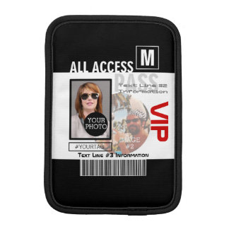 Create Your Own VIP Pass 8 ways to Personalize iPad Mini Sleeve