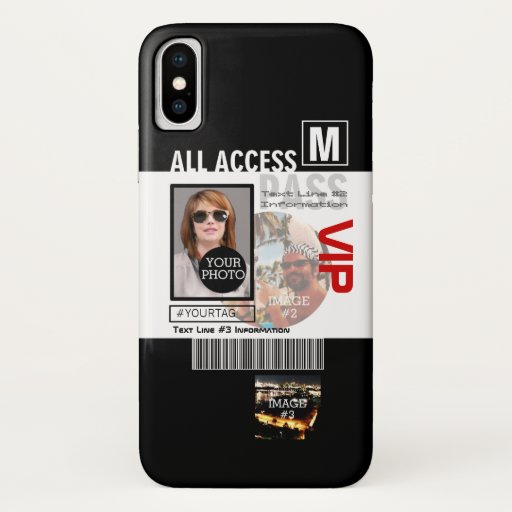 Create Your Own VIP Pass 8 ways to Personalize it! iPhone XS Case