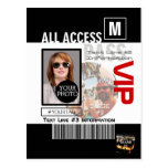 Create Your Own VIP Pass 8 ways to Personalize! Postcard