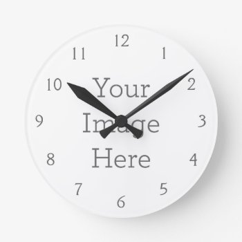 Create Your Own Wall Clock by zazzle_templates at Zazzle