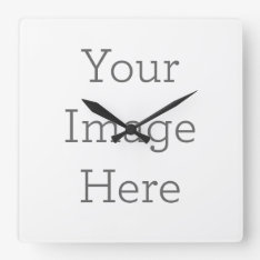 Create Your Own Wall Clock at Zazzle