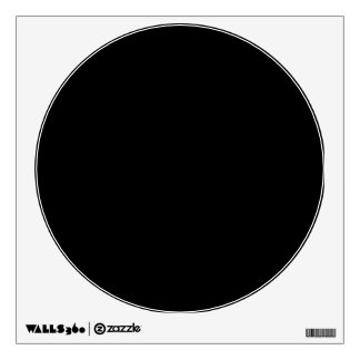 CREATE YOUR OWN WALL DECAL Black Circle