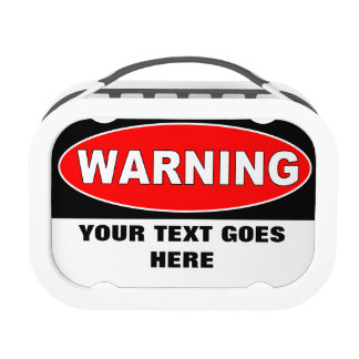 Create Your Own Warning Message Lunch Box