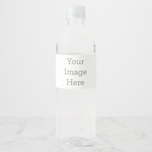 Create Your Own Water Bottle Label 8 x 2125