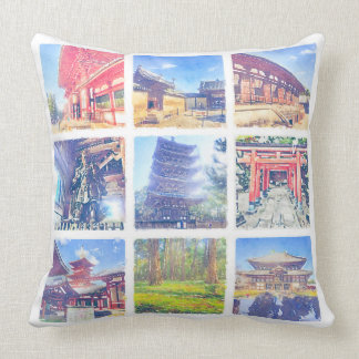 Create Your Own Watercolor Mobile Photos Collage Throw Pillow