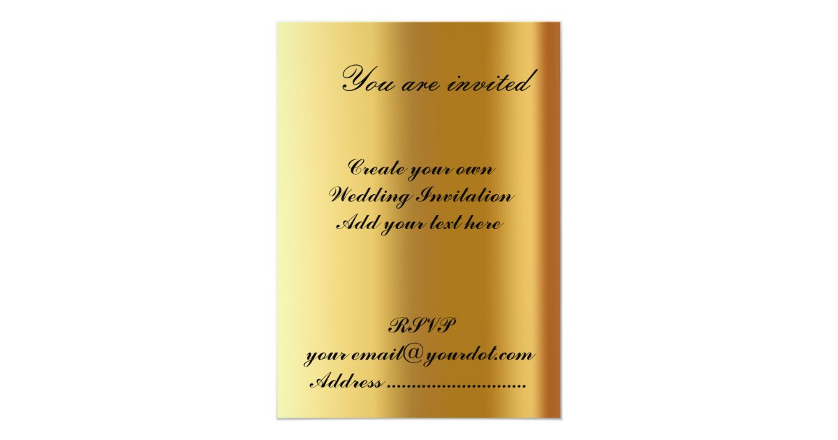 Design Your Own Wedding Invite: Create Your Own Wedding Invitation 2