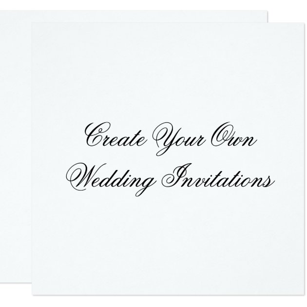 how to make your own square wedding cake stand create your own wedding invitations square shape zazzle 16075