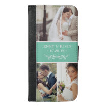 Create Your Own Wedding Photo Collage iPhone 6/6s Plus Wallet Case
