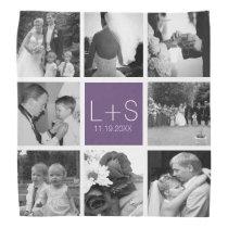 Create Your Own Wedding Photo Collage Monogram Bandana