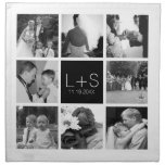 Create Your Own Wedding Photo Collage Monogram Cloth Napkins