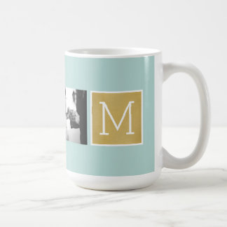 Create Your Own Wedding Photo Collage Monogram Coffee Mug