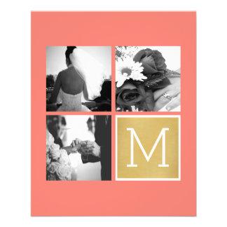 Create Your Own Wedding Photo Collage Monogram Flyer