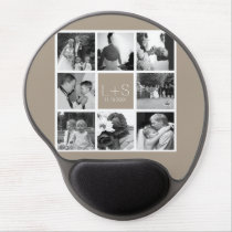 Create Your Own Wedding Photo Collage Monogram Gel Mouse Pad