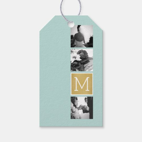 Create Your Own Wedding Photo Collage Monogram Gift Tags