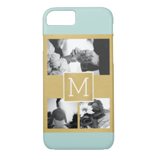 Create Your Own Wedding Photo Collage Monogram iPhone 7 Case