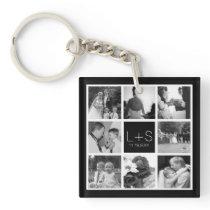 Create Your Own Wedding Photo Collage Monogram Keychain
