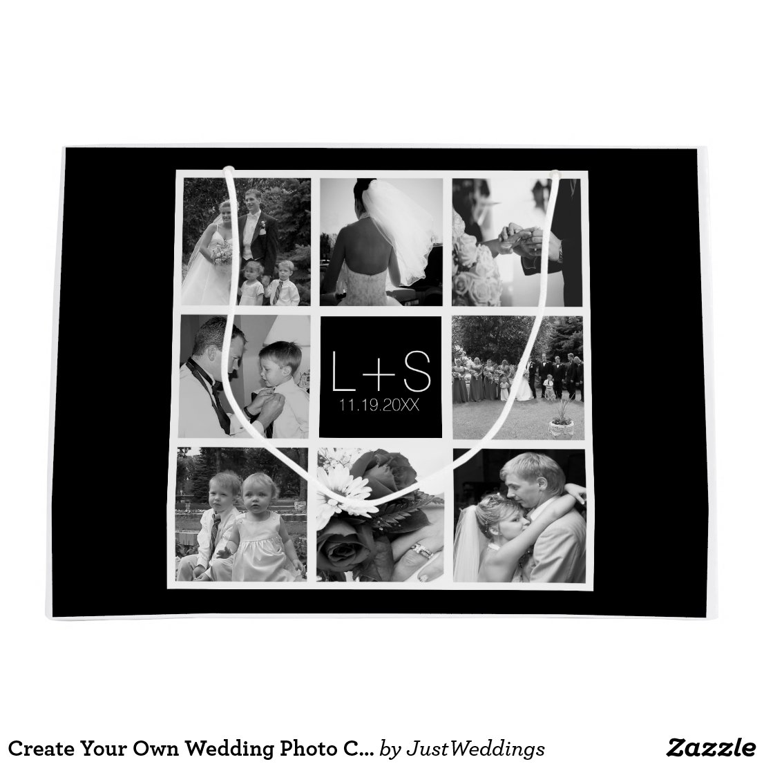 Create Your Own Wedding Photo Collage Monogram