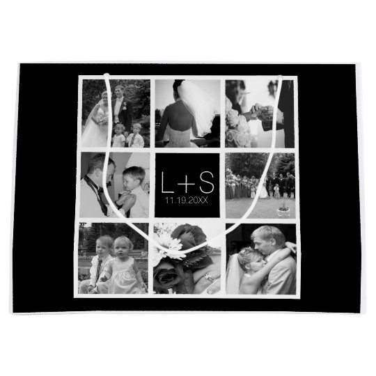 Make Your Own Wedding Gift: Create Your Own Wedding Photo Collage Monogram Large Gift