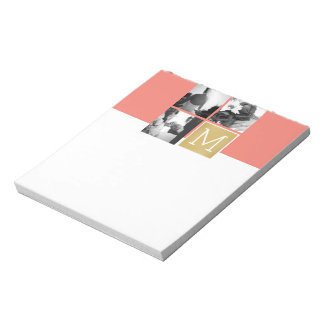 Create Your Own Wedding Photo Collage Monogram Notepad