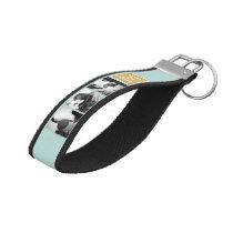 Create Your Own Wedding Photo Collage Monogram Wrist Keychain