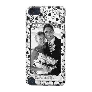 Create Your Own Wedding Photo Doodle Hearts iPod Touch 5G Case