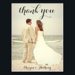 """Create Your Own Wedding Photo Thank You Postcard<br><div class=""""desc"""">This thank you postcard is perfect for any occasion.  Simply upload your own photo and customize the details on the front and back of the card.  Perfect for weddings or baby showers.</div>"""