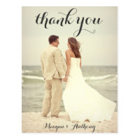 Create Your Own Wedding Photo Thank You Postcard
