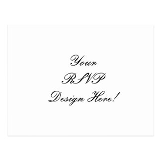 Create Your Own Wedding RSVP Reply Postcards