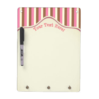 Create Your Own - Whimsical Neapolitan Stripes Dry Erase Board