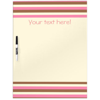 Create Your Own - Whimsical Neapolitan Stripes Dry-Erase Board