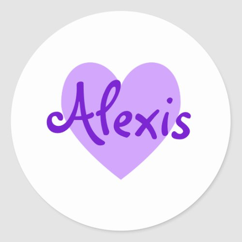 Create Your Own White and Purple Heart Classic Round Sticker