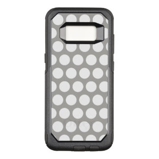 Create Your Own White Polka Dot OtterBox Commuter Samsung Galaxy S8 Case