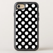 Create Your Own White Polka Dot Pattern OtterBox Symmetry iPhone 8/7 Case