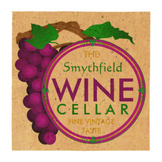 Create Your Own Wine Cellar Grapes Personalized Beverage Coasters