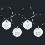 """Create Your Own Wine Charm<br><div class=""""desc"""">Host a party with a set of 4 wine charms to avoid any mix-ups! Customize these wine charms with your designs,  monograms,  or text to set them apart. These wine charms also make as great gifts for parties,  weddings,  and other special events!</div>"""