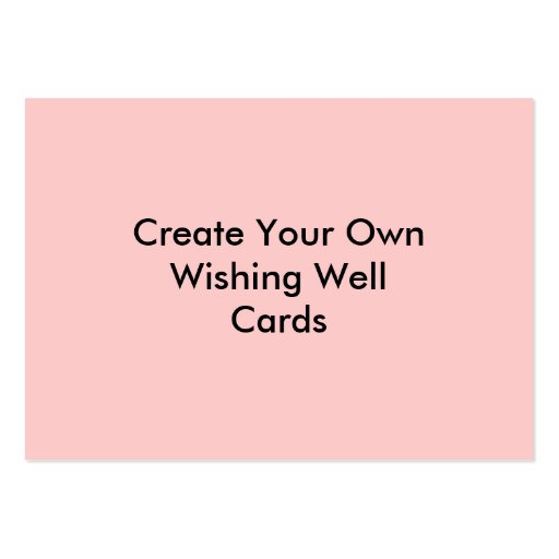 Create your own wishing well cards pink large business for Customize your own business cards