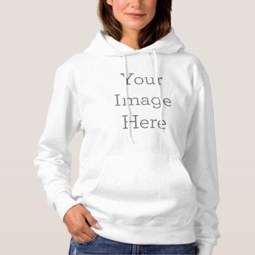 Create Your Own Womens Basic Hooded Sweatshirt