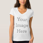 "Create Your Own Women's V-Neck T-Shirt<br><div class=""desc"">Create your own custom clothing on Zazzle. You can customize this v-neck t-shirt to make it your own. Add your own images,  drawings or designs for some seriously stylish clothing that"