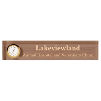 Create Your Own Wood Grain Nameplate With Clock
