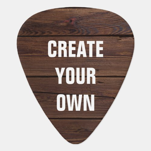 Create Your Own Wooden Floor Look Guitar Pick