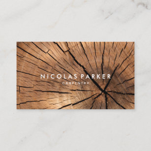 Wooden box business cards templates zazzle create your own wooden log business card reheart Choice Image