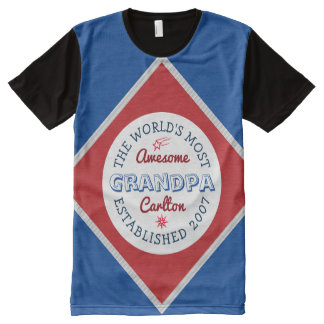 Create Your Own World's Most Awesome Grandpa Logo All-Over-Print Shirt