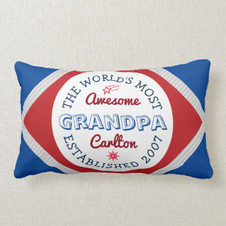 Create Your Own World's Most Awesome Grandpa Logo Lumbar Pillow