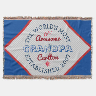 Create Your Own World's Most Awesome Grandpa Logo Throw