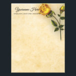 "Create Your Own Yellow Rose Letterhead<br><div class=""desc"">Yellow rose stationery</div>"